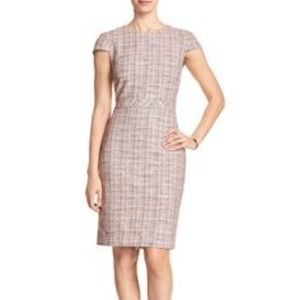 Tweed Boucle Cap-Sleeve Sheath Dress